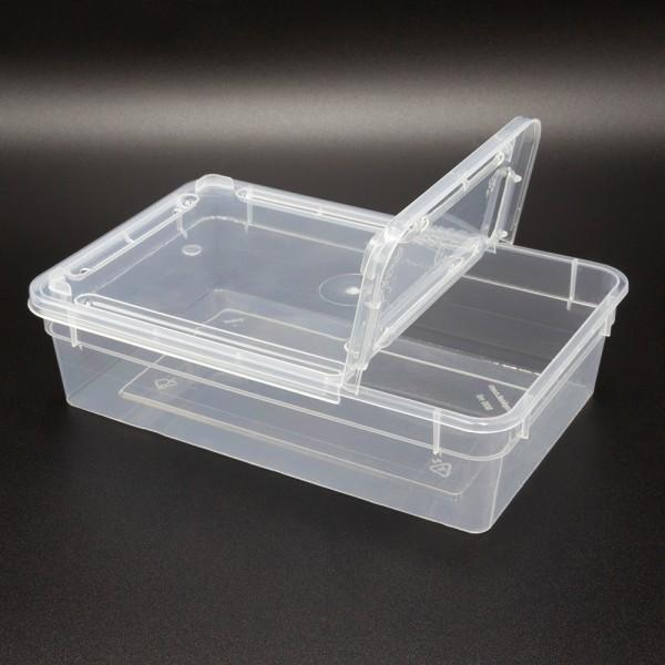 Dose 0,8 Liter 18,5 x 12,5 x 5 cm - transparent