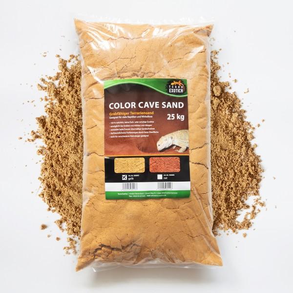 Color Cave Sand - gelb 25 kg grabfähiger Höhlensand