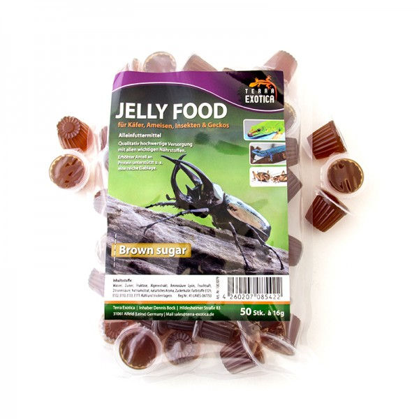 Jelly Food - Brown Sugar 50 Stück à je 16 g im Beutel