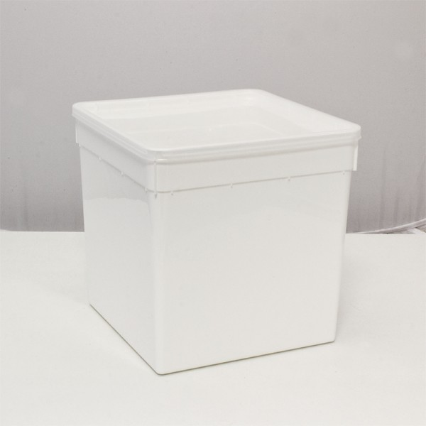 Dose 5,8 Liter 18,5 x 18,5 x 19,0 cm - weiß