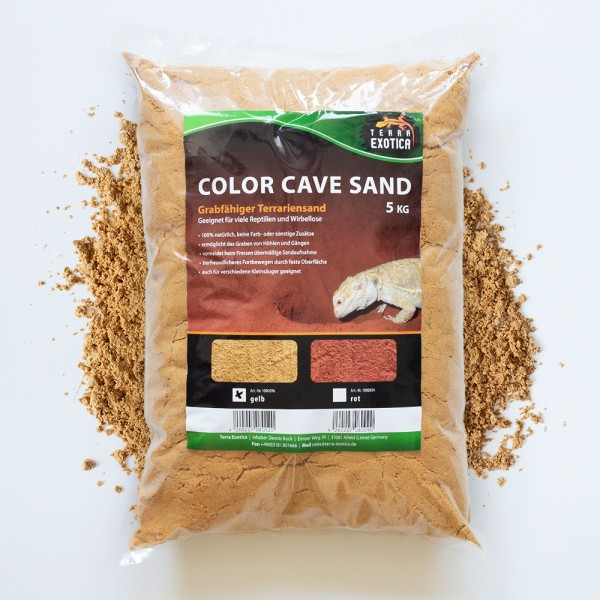 Color Cave Sand - gelb 5 kg grabfähiger Höhlensand