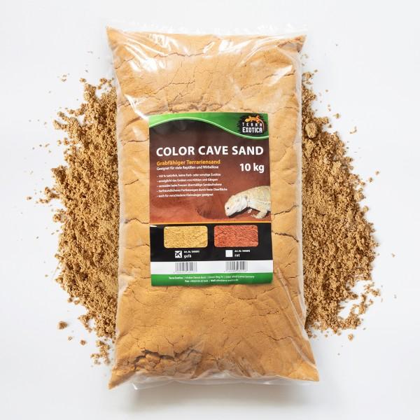 Color Cave Sand - gelb 10 kg grabfähiger Höhlensand
