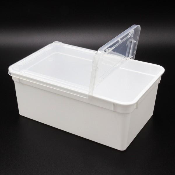 Dose 1,3 Liter 18,5 x 12,5 x 7,5 cm - weiß
