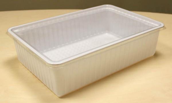 Dose XL weiß mit Deckel 38,0 x 26,0 x 10,0 cm