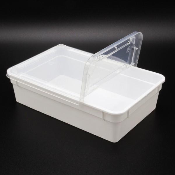 Dose 0,8 Liter 18,5 x 12,5 x 5 cm - weiß