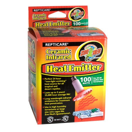 Ceramic Infrared Heat Emitter - 100 Watt Keramikheizstrahler