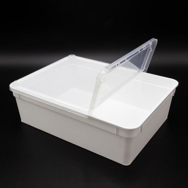 Dose 3,0 Liter 24,5 x 18,5 x 7,5 cm - weiß