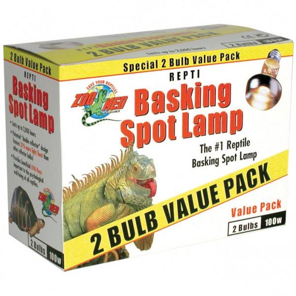 Repti Basking Spot Lamp Value Pack 100 Watt - Doppelpack