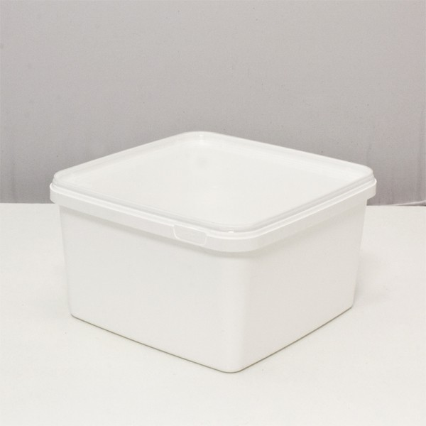 Dose 3,0 Liter 19,5 x 19,5 x 11,0 cm - weiß