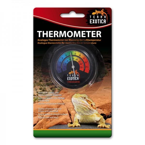Thermometer analog - farbige Skala
