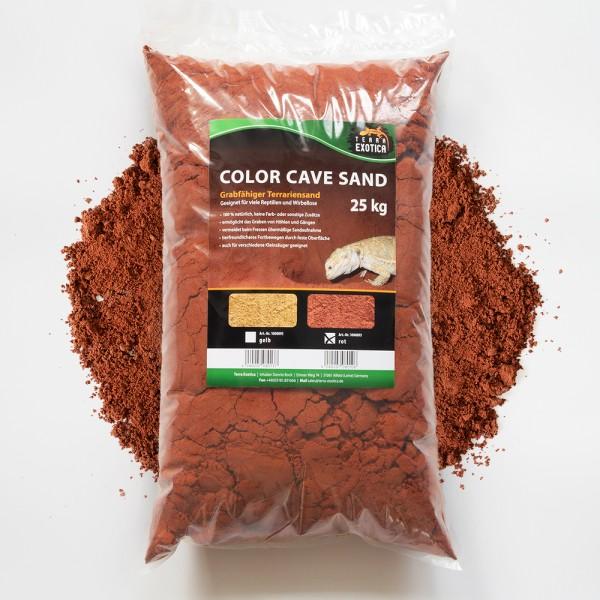 Color Cave Sand - rot 25 kg grabfähiger Höhlensand