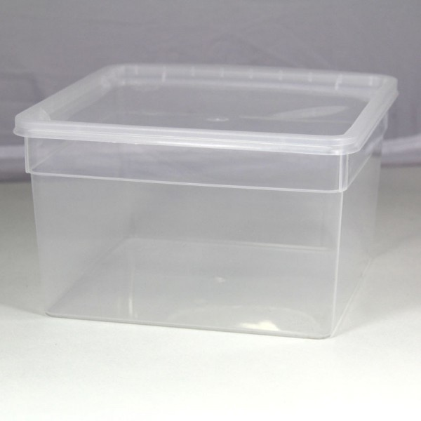 Dose 3,0 Liter 19,5 x 19,5 x 11 cm - transparent