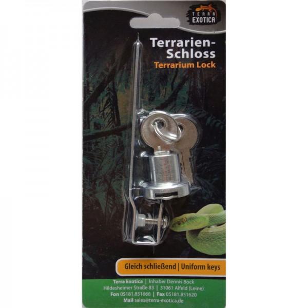 Terrarienschloss gleichschließend / Terrarium Lock