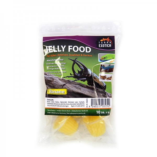 Jelly Food - Banane 10 Stück à je 16 g im Beutel