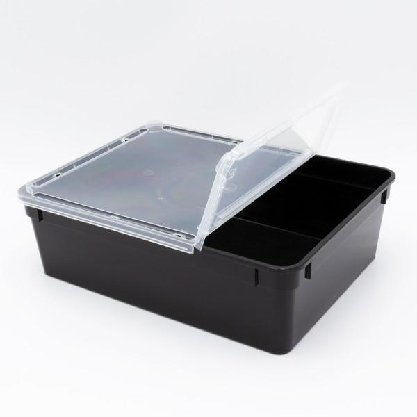 Dose 3,0 Liter 24,5 x 18,5 x 7,5 cm - schwarz