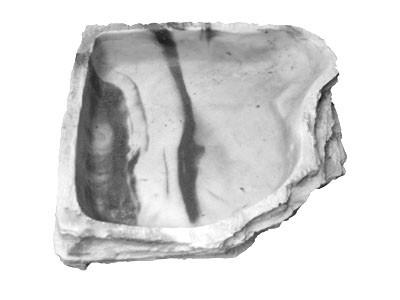 Eckwasserschale maxi - granite